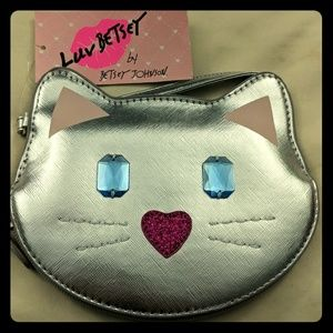 Bejeweled Kitty Clutch/Coin Purse